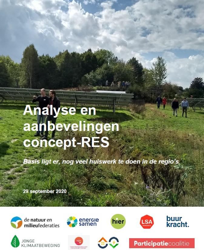 Analyse en aanbevelingen concept-RES